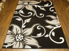 Modern Approx 7x5 150x210cm Woven Lily Design Rugs Sale Top Quality Black/Greys